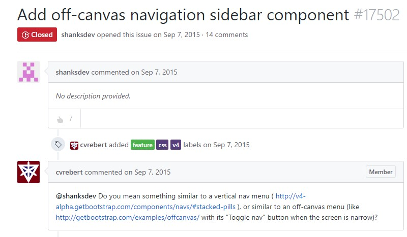 Bring in off-canvas navigation sidebar component