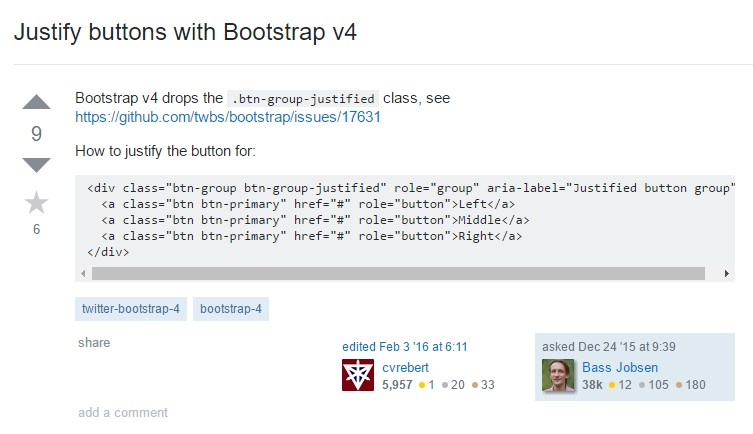 Establish buttons with Bootstrap v4