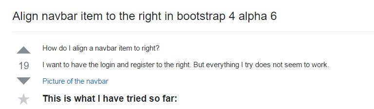 Regulate navbar  object to the right in Bootstrap 4 alpha 6