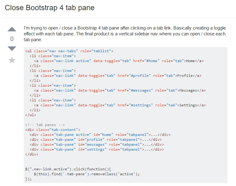 How you can  close up Bootstrap 4 tab pane