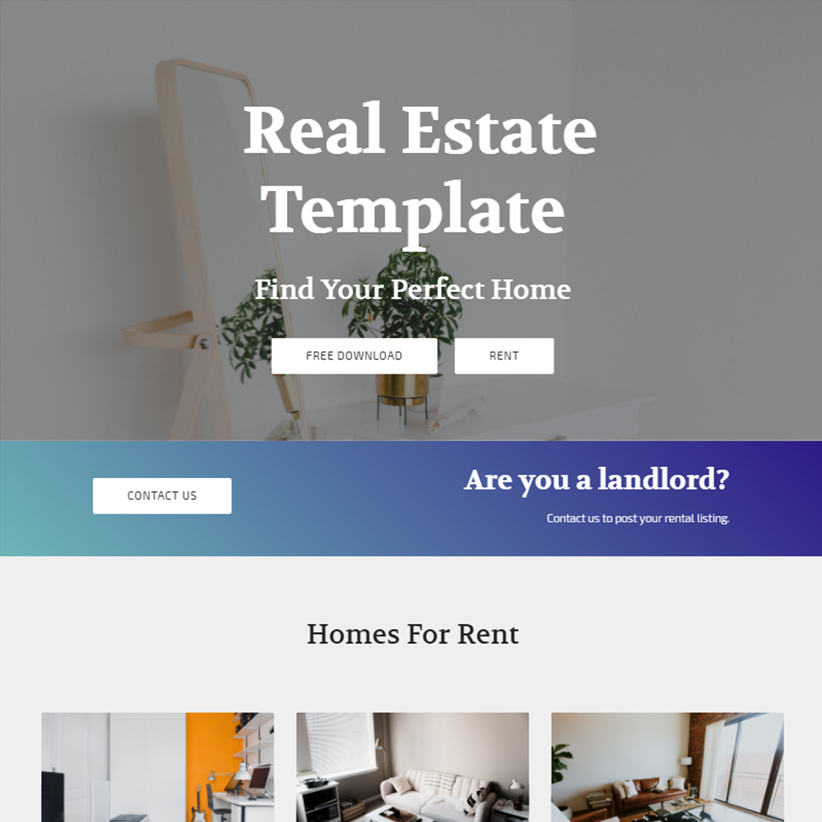 CSS3 Bootstrap Real Estate Templates