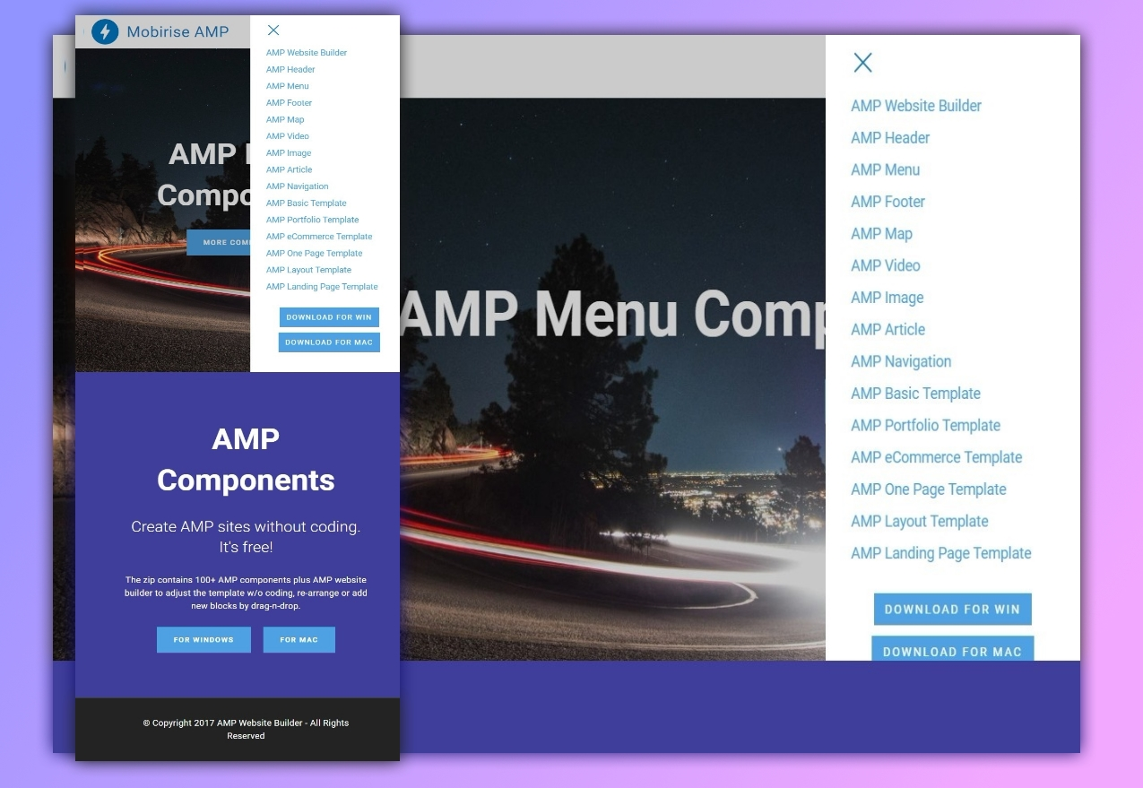 36 useful and mobile friendly amp components compilation for 2018
